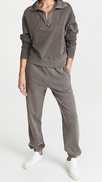 SUNDRY Ruched Waist Sweatpants