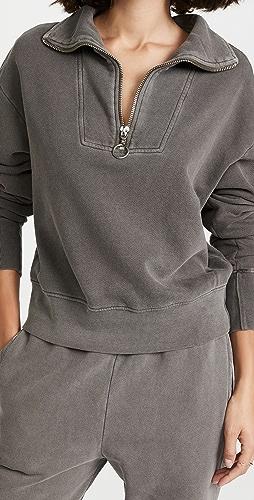 SUNDRY - Half Zip Collared Long Sleeve Pullover