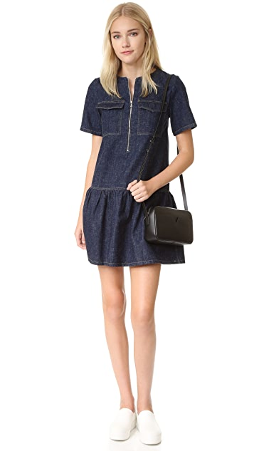 SUNO Short Sleeve Denim Dress