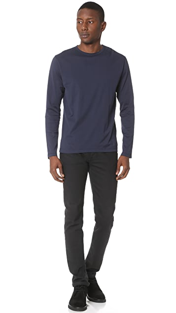 Sunspel Long Sleeve Crew Neck Tee