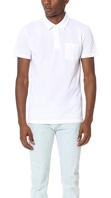 17300484 Sunspel Short Sleeve Riviera Polo Shirt | EAST DANE