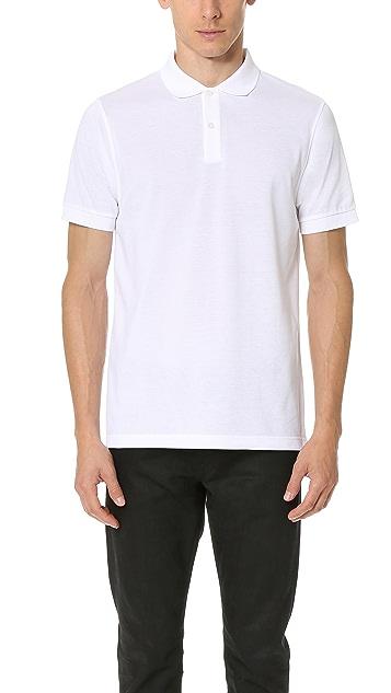 Sunspel Short Sleeve Pique Polo Shirt