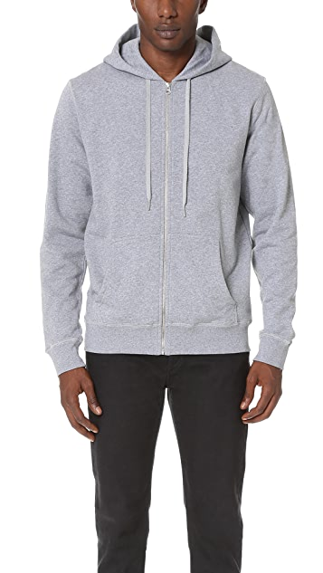 Sunspel Long Sleeve Zip Hoodie