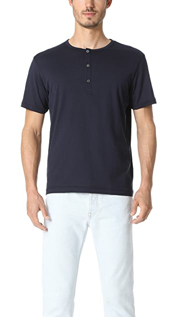 Sunspel Q82 Short Sleeve Henley