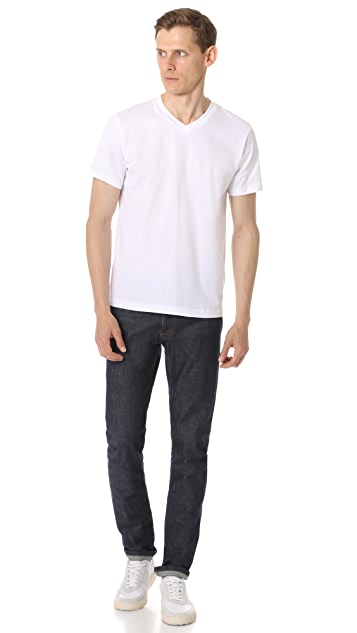 Sunspel Short Sleeve V Neck Tee
