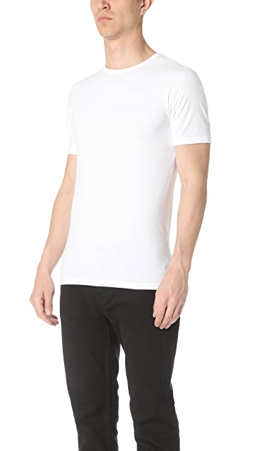 Sunspel Stretch Short Sleeve Crew Neck Tee