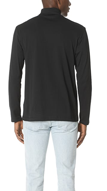 Sunspel Roll Neck Long Sleeve Top