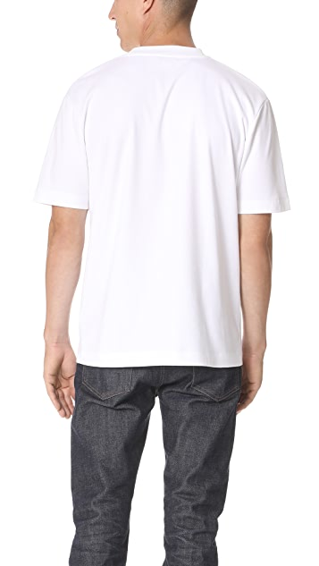 Sunspel Short Sleeve Mock Neck Tee