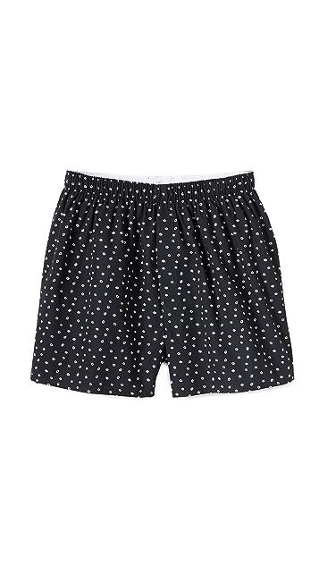 Sunspel Hole Spot Print Boxer Shorts
