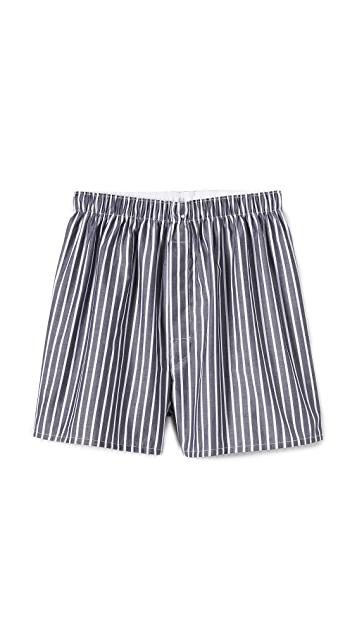 Sunspel Unbalanced Stripe Boxer Shorts