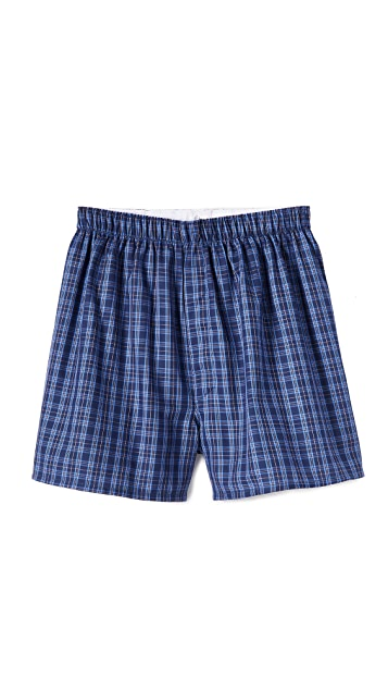 Sunspel Woven Check Boxer Shorts