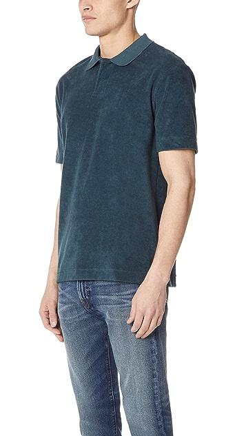 Sunspel Short Sleeve Terry Polo Shirt