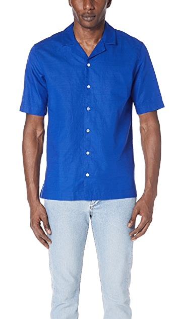 Sunspel Short Sleeve Camp Collar Shirt