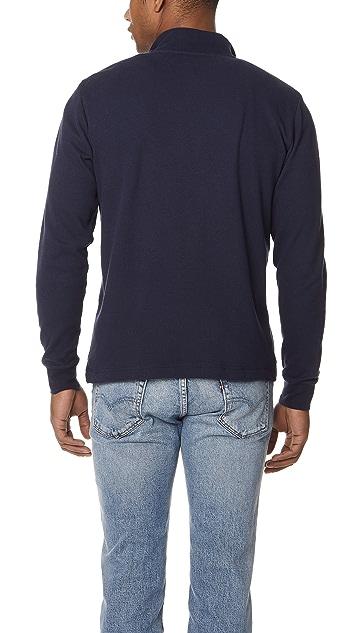 Sunspel Cellulock Half Zip Pullover