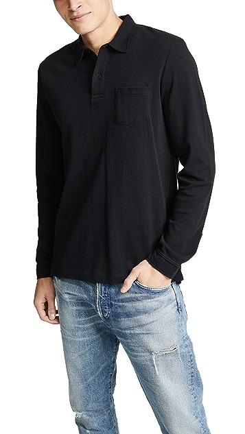 Sunspel Long Sleeve Riviera Polo Shirt