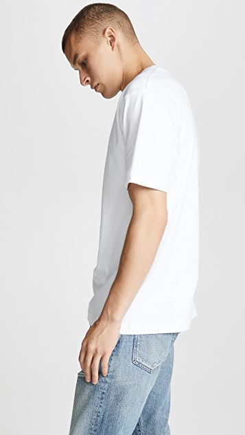Sunspel Short Sleeve Mockneck Tee