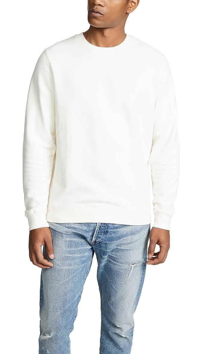 WINTER SALE! Sunspel Loopback Sweatshirt Archive White