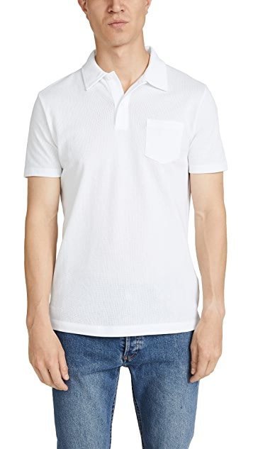 Sunspel Short Sleeve Rivieria Polo Shirt