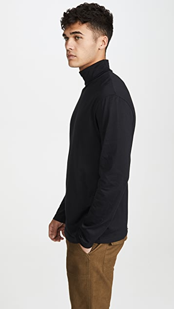 Sunspel Long Sleeve Roll Neck T-Shirt