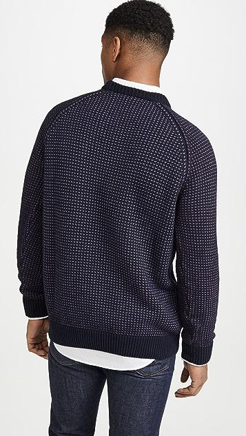 Sunspel Verticle Crew Neck Sweater
