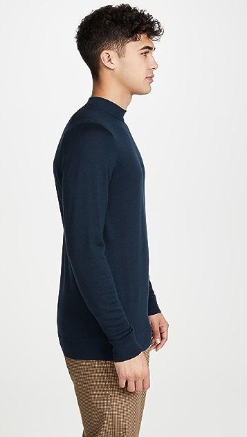 Sunspel Mock Neck Sweater