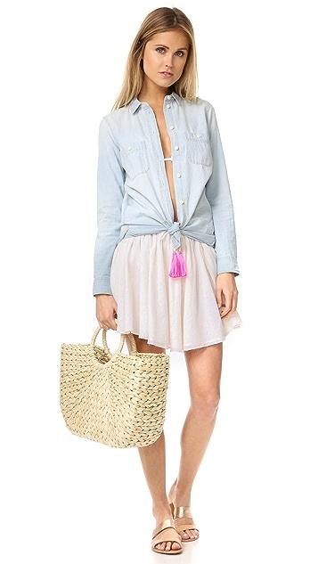Surf Bazaar Gathered Miniskirt