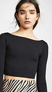 Susana Monaco Scoop Back Crop Top