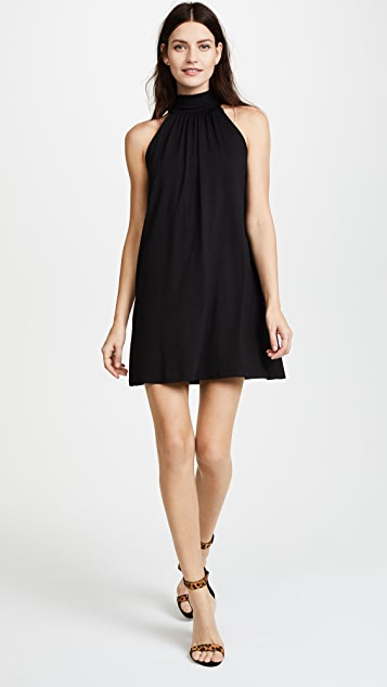 Susana Monaco Turtleneck Mini Dress - Black