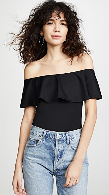463355797eb64 Susana Monaco Ruffle Off Shoulder Top ...
