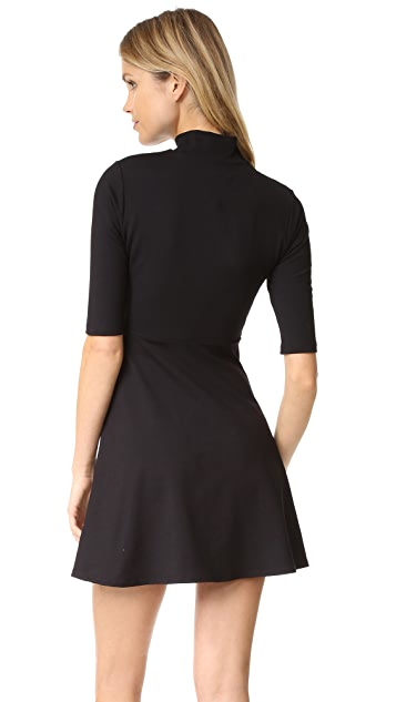 Susana Monaco Mock Neck Dress