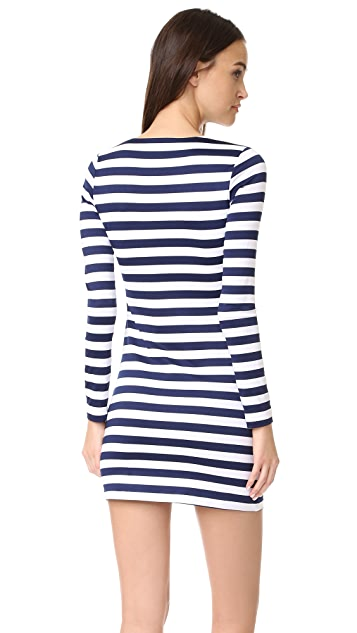 Susana Monaco Kiki Long Sleeve Stripe Dress
