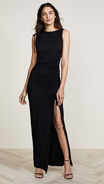 Susana Monaco Deana Ruched Dress - Black