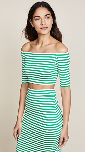 Susana Monaco Sabrina Off Shoulder Top