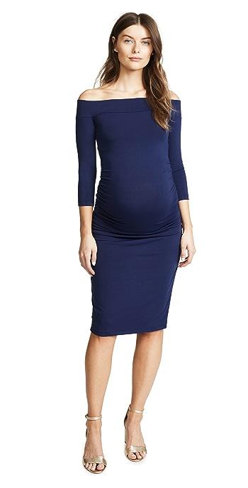 Susana Monaco Lydia Maternity Dress - Deep Sea
