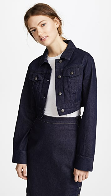 Susana Monaco Cropped Denim Jacket - Dark Denim