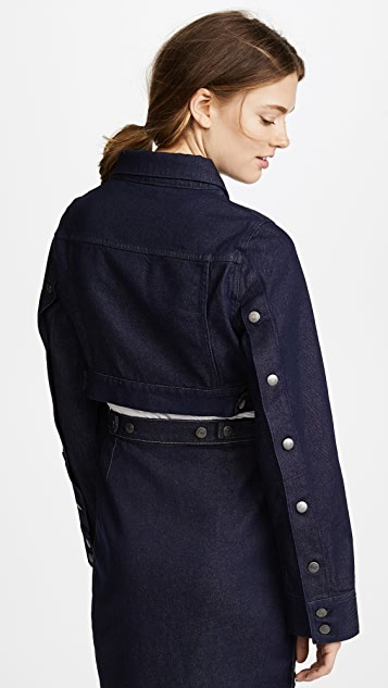 Susana Monaco Cropped Denim Jacket