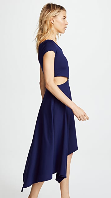 Susana Monaco Daniela Cutout Cascade Dress