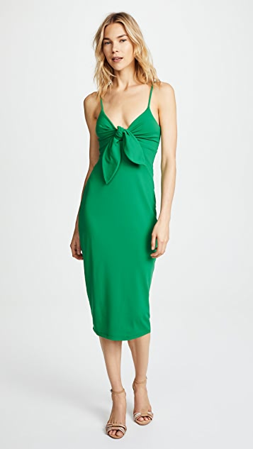 Susana Monaco Isadora Bow Detail Midi Dress