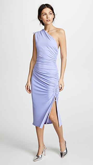 Susana Monaco Lillie Gathered One Shoulder Dress