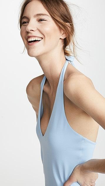 Susana Monaco Viola Halter Midi Dress