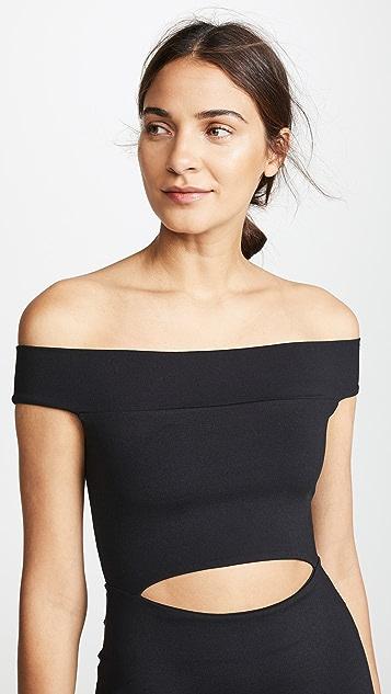 Susana Monaco Cutout Off the Shoulder Mini Dress