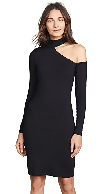 Susana Monaco Open Shoulder Long Sleeve Dress