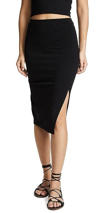 Susana Monaco High Waist Slit Skirt - Black