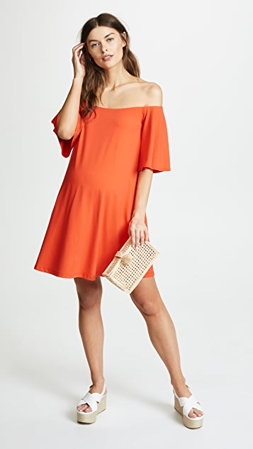 Susana Monaco Off Shoulder Maternity Dress