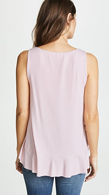 Susana Monaco Sleeveless Ruffle Top