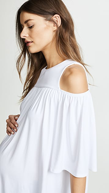Susana Monaco Cold Shoulder Maternity Top