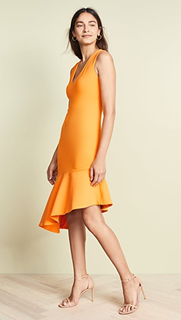 Susana Monaco Low Neck Flare Hem Dress