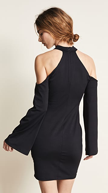 Susana Monaco Open Shoulder Cutout Dress