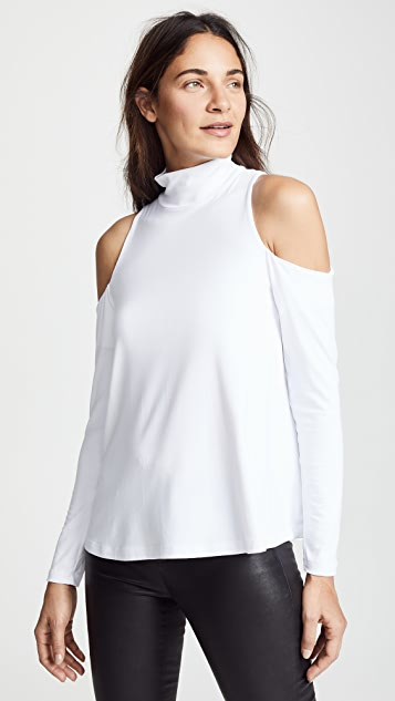 Susana Monaco Cold Shoulder Swing Top