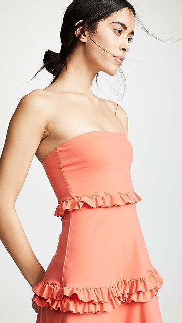 Susana Monaco Strapless Tiered Dress